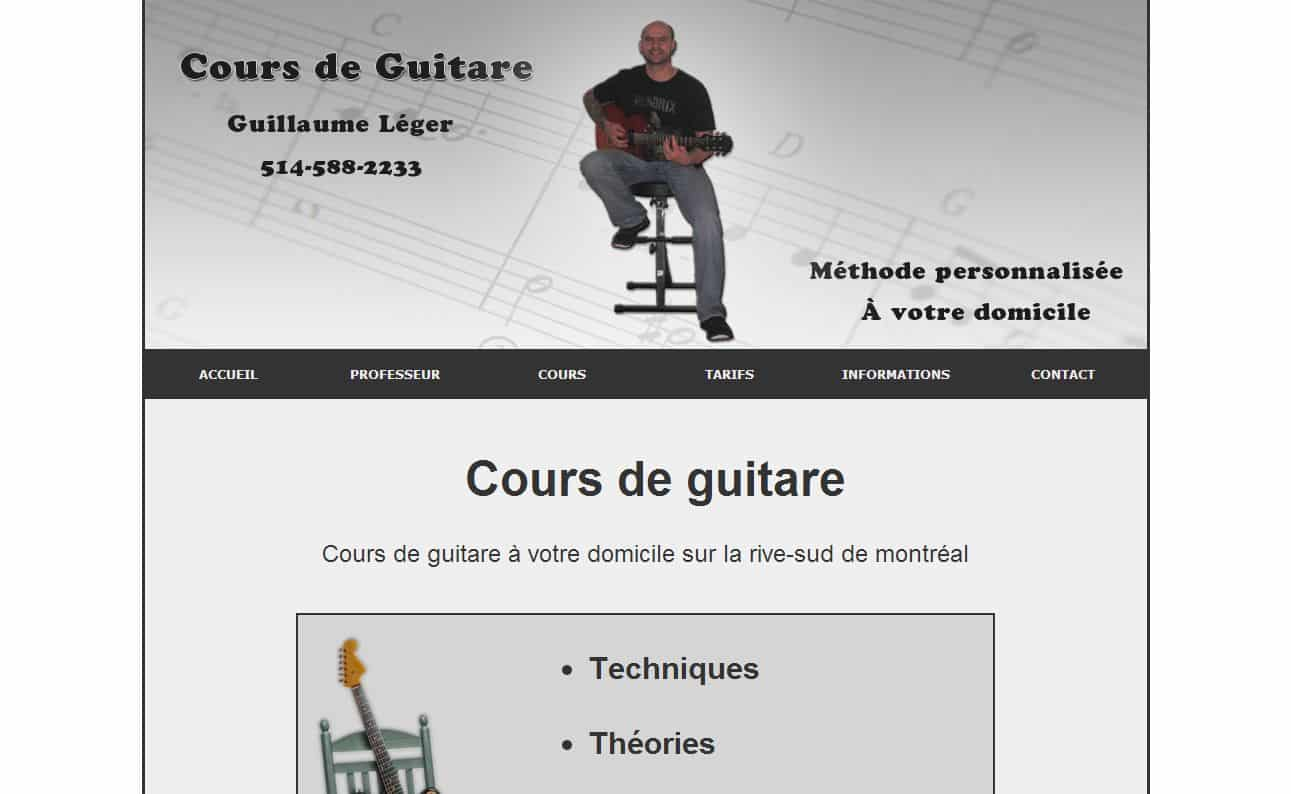 Guillaume Léger – cours guitare rive-sud