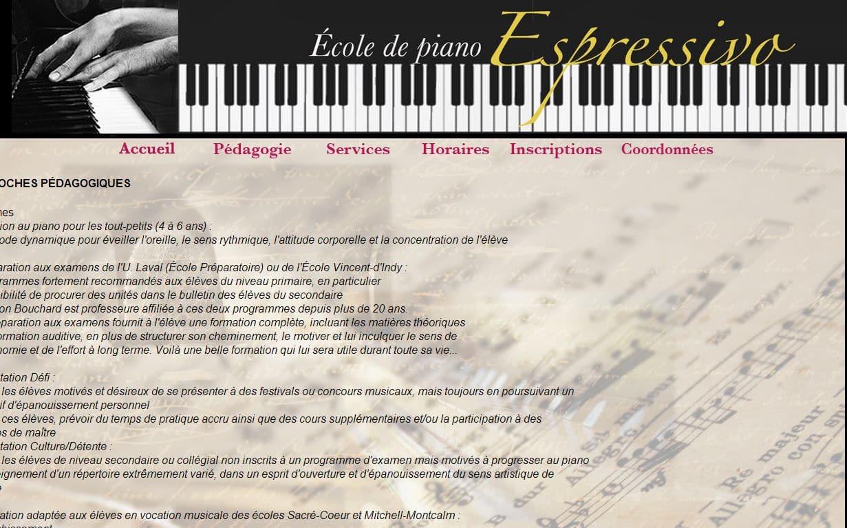 École de musique Pianissimo – Sherbrooke